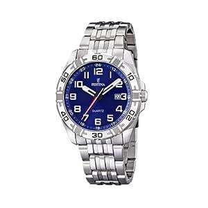 FESTINA F16495/3 - Reloj de caballero de cuarzo, correa de acero inoxidable