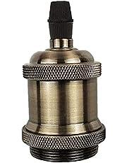 Glödlampa Socket E27 lamphållare Retro Lamphållare Lamp Montering Vintage Hållare för hängande ljus lampa Adapter Champaign Gold