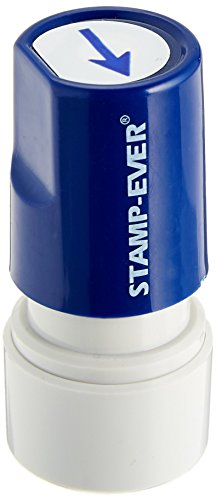 Stamp-Ever Pre-Inked Round Message Stamp, Arrow, Stamp Impression Size: 3/4-Inch Diameter, Blue (5969)