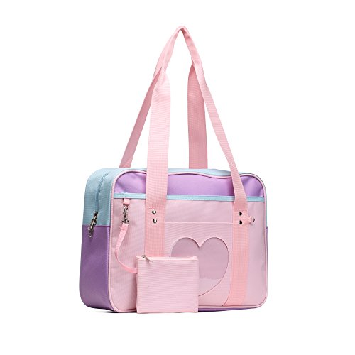 SteamedBun Ita Bag Heart Japanese Bag Girls Large Shoulder Purse Anime School Satchels for Cosplay