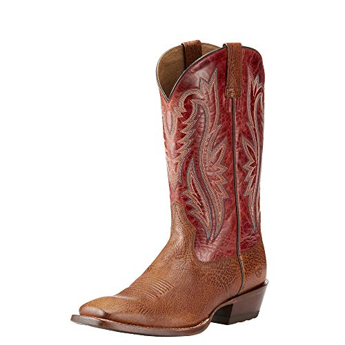 Wild West Boot Store (ARIAT Men's Fireside Western Boot, texaco tan/Rawhide red, 10.5 E)