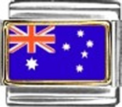 Australia Photo Flag Italian Charm Bracelet Jewelry Link