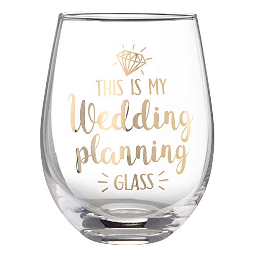 Lillian Rose G117 WP Wedding Planning Stemless Wine Glass, 4.75