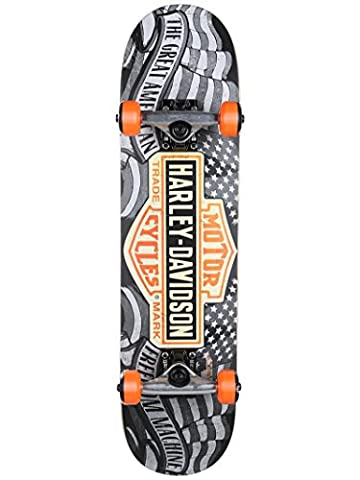 Darkstar Harley Davidson Freedom Complete Skateboard, Black, MD7.25 - Darkstar Skate Decks