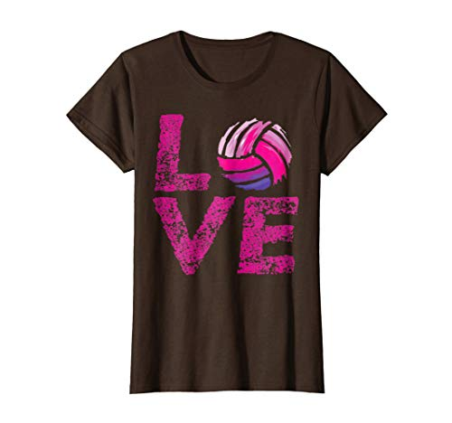 Womens Love Volleyball TShirt NewStyle T-shirt
