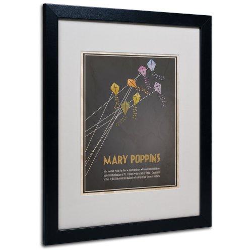 Mary Poppins by Megan Romo Canvas Wall Artwork, Black Frame,