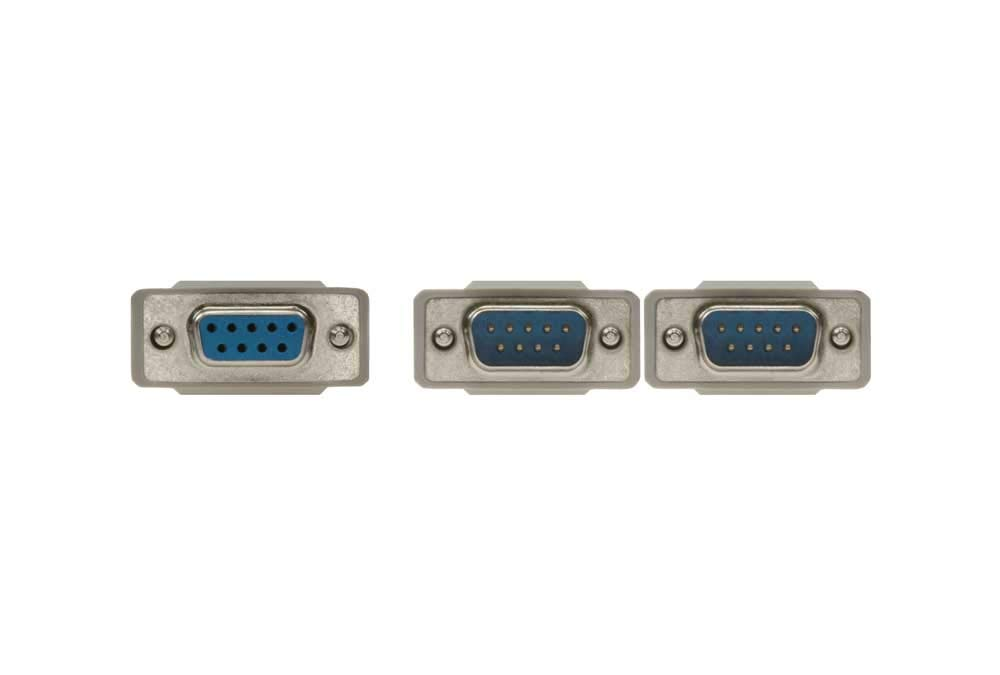 SF Cable 1ft DB9 Female to 2 Male Serial RS232 Splitter Cable