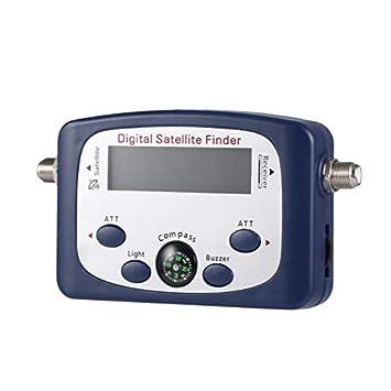 JS-SF06 portátil LCD Digital Buscador de Satélite Medidor de Intensidad de señal Buscador de señal de satélite TV Detector de satélite Herramienta: ...