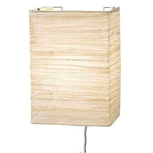 Wallniture Asian Wall Lamp with Toggle Switch Handmade Rice Paper Cream 2 25 Watt Chandelier Bulb Included ...