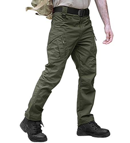 TACVASEN Outdoor Sports Lightweight Cycling Climbing Hunting Combat Trousers Pants Army Green,38