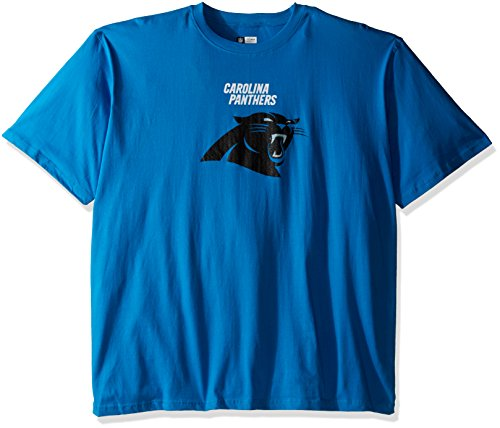 Profile Big & Tall NFL Carolina Panthers Unisex Team Logo Screen Print on Chest, Blue, 3X
