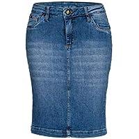 Saia Jeans Feminina [03718]