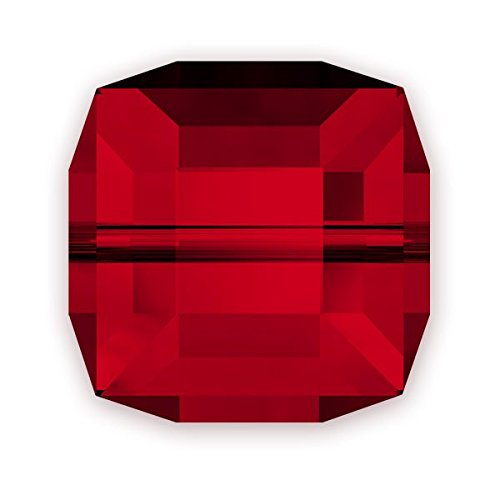 Swarovski Cube Beads 5601 8mm Siam (Package of 3)