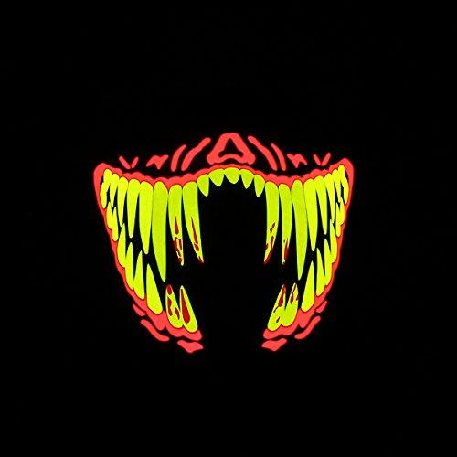 Kenthia 1 Pieces Outdoor Flashing Half Face Mask Light Up Luminous Halloween Party Costume Raver D¨¦cor Color -