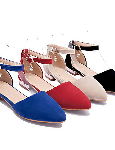 PDX de Casual cn38 señaló negro azul almendra rojo talones de mujer blue zapatos Soporte uk5 talón Toe Flats 5 5 eu38 us7 v5qPxrvn