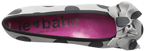 Polka with Bow Black Grey Dots Le Flat Babe Womens SwUIqt0