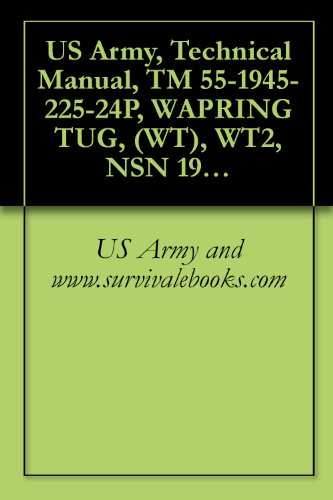 US Army, Technical Manual, TM 55-1945-225-24P, WAPRING TUG, (WT), WT2, NSN 1925-01-502-8772, 1980