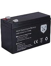 ATEM Power VABY001A 12AH Deep Cycle Battery 12V AGM Battery Box SLA