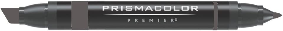 Prismacolor Double-Ended Marker, Broad and Fine Tip, PM162 French Gray 80% (3574)