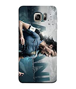 ColorKing Football Cavani Uruguay 01 Blue shell case cover for Samsung S6 Edge Plus