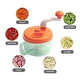 LoLa Ling Multifunctional Vegetable Meat Cutter Round Spiral Vegetable Slicer Manual Blender Food Chopper Kitchen Gadget Tools