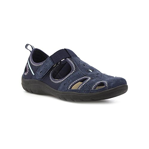 Earth Spirit Womens Navy Leather Sport Casual Shoe Blue eNdTv