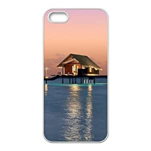 Beautiful Maldives Customized Cover Case with Hard Shell Protection for Iphone 5,5S Case