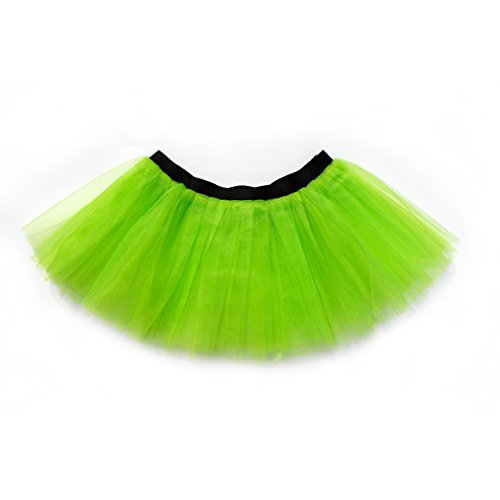 [Dreamdanceworks Running Skirt Teen or Adult Size Princess Costume Ballet Rave Dance or Race Tutu (Green &] (Dance Costumes For Adults)