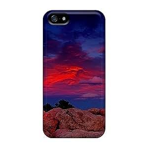 New Style 6Plus Hard Case Cover For Iphone 5/5s- Purple Sky WANGJING JINDA