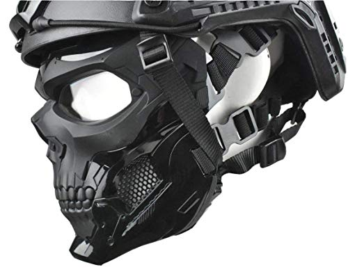 WLXW Masque Tactique Airsoft Et Casque de Paintball Rapide, Masque Intégral de Masque de Protection pour Masque de… 4