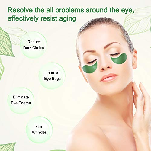 41T8b0T2rvL - Under Eye Patches Teamyo Collagen Eye Masks,Reduce Dark Circles & Puffiness Eliminate Eye Bags, Natural Eye Treatment Masks with Anti Wrinkles & Anti Aging, Moisturizer Deeply, 30 Pairs-Green