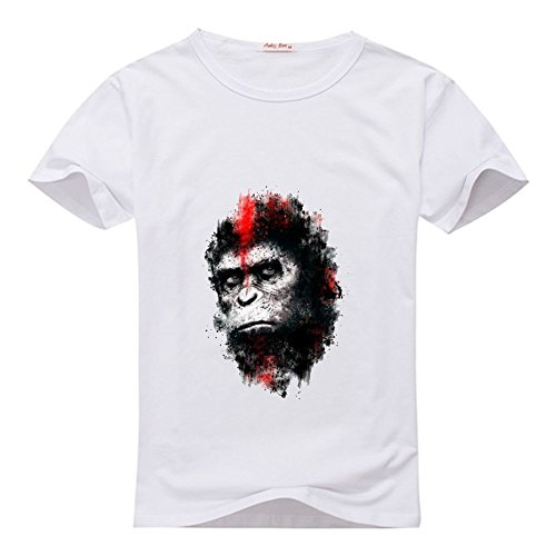 Apes Logo men's customs Tee shirt White XXX-Large ()
