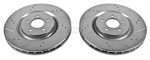 Power Stop AR8184XPR Front Evolution Drilled & Slotted Rotor Pair