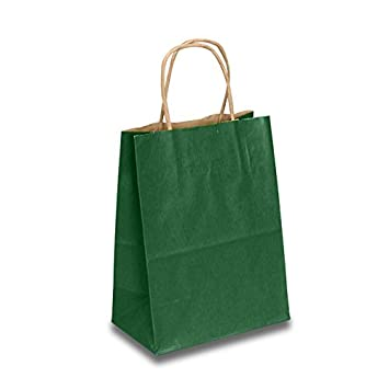 Amazon.com: Papel de color verde bosque bolsas de bolsas de ...
