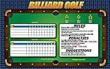 Zieglerworld Billiard Pool Table Golf Game - Laminated 11 x 17 + Dry Erase Marker