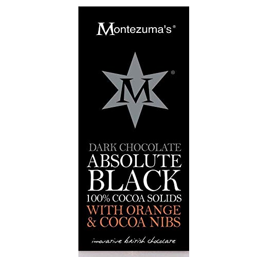 - Montezuma's Dark Chocolate Absolute Black with Orange and Cocoa Nibs