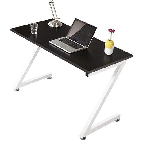 Lyndan Decatur Table Informatique Compact Noir Bureau Z Forme