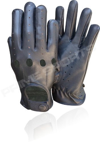(New* Quality Real Soft Leather Men's Diving Gloves Black Small )
