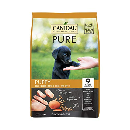 CANIDAE PURE PUPPY Real Chicken, Lentil & Whole Egg Recipe Dry Dog Food 12 lbs