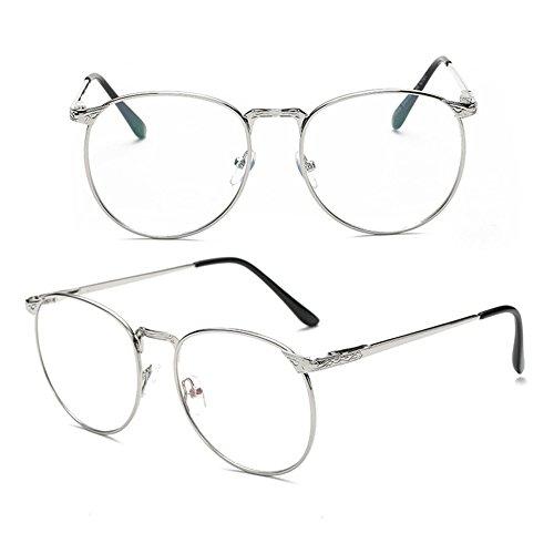 de fine verres Conception Delaying verres sans neutres mode simple de en de Silver claire Bordure métal lentille force d'oeil frontière de PY5wO5qx
