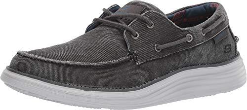 Skechers Men's Status 2.0 Casual Boat Shoe Black 10.5 M US