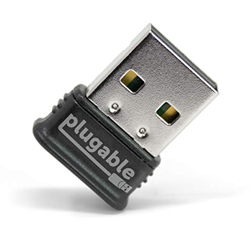 Plugable USB Bluetooth 4.0 Low Energy Micro Adapter (Windows 10, 8.1, 8, 7, Raspberry Pi, Linux Compatible; Classic Bluetooth, and Stereo Headset Compatible) - Micro Usb Bluetooth