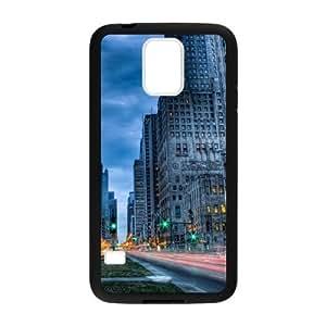 City streets road tilt shift Custom case cover for Samsung Galaxy S5?