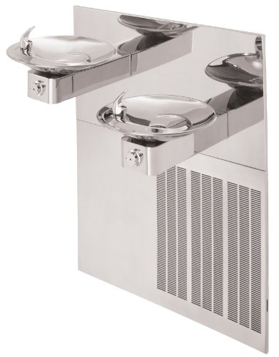 Haws H1011.8HPS Stainless Steel Hi-Lo Barrier-Free Dual High Polished Electric Water Cooler with Round Sculpted Bowls (Chiller and Mounting Frame Not Included)