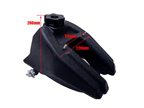 Wahoo Atv Parts - Gas Fuel Tank for Kazuma Meerkat Redcat KMX50 Hensim 50cc 70cc 90cc Kids ATV Quad 4 Wheeler