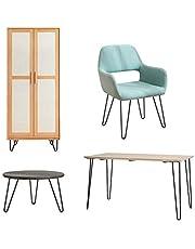Moderne stijl metalen tafelpoot, 4 stuks haarspeld tafelpoten DIY koffietafelpoot ijzeren poten voor tafelstoel van verschillende meubels Thuiskantoor of zwart bedrijf(28'')