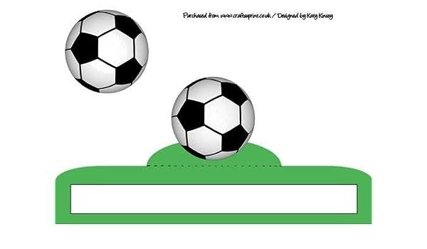 Balón de fútbol loco plegable tarjeta en color verde por Katy ...
