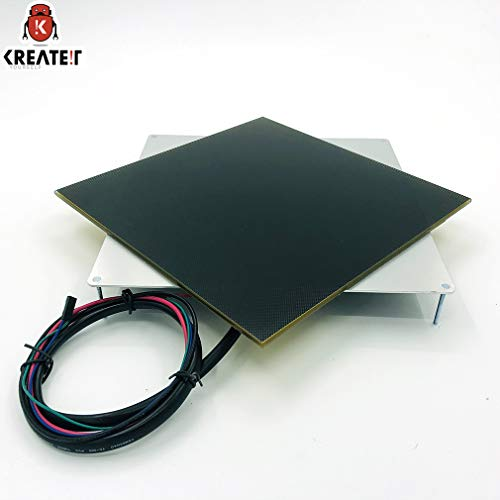 KREATEIT 3mm Thick Aluminum Plate Heating Bed with 4mm Thick Lattice Glass Platform Kit for Large 3D Printer - Glass Lattice