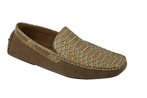 serpente Tenn mensblue Suede a pelle Tan antiscivolo effetto su mocassino guida Faux scarpe brevetto loafer 6qfHwgnIq