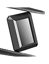 Skyjewels Black Diamond Solitaire-Emerald Cut. 3.10 Cts. Earth Mined Certified.AAAA